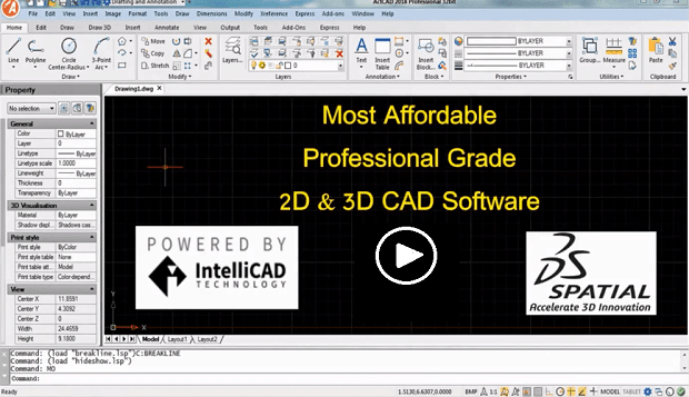 ActCAD IntelliCAD 8.4a autocad alternative cad software program