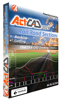 ActCAD Rail road Sections